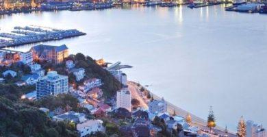 Vista de una Ciudad con una calidad de vida excelente en Nueva Zelanda