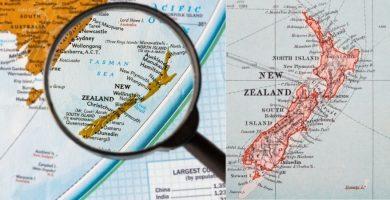 ubicación en el mapa de Nueva Zelanda