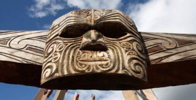 Arte tribal Maorí de la Cultura de Nueva Zelanda