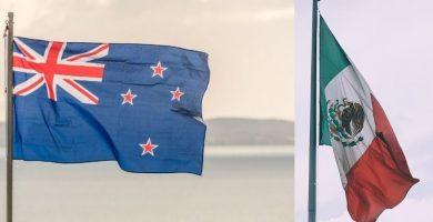 Banderas emigrar a Nueva Zelanda desde Mexico