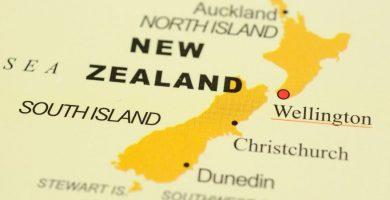 Mapa de Nueva Zelanda y su historia